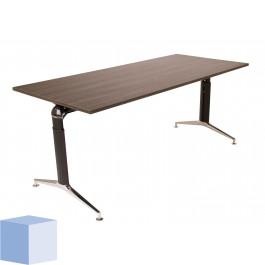Square Chrome T-poot bureautafel