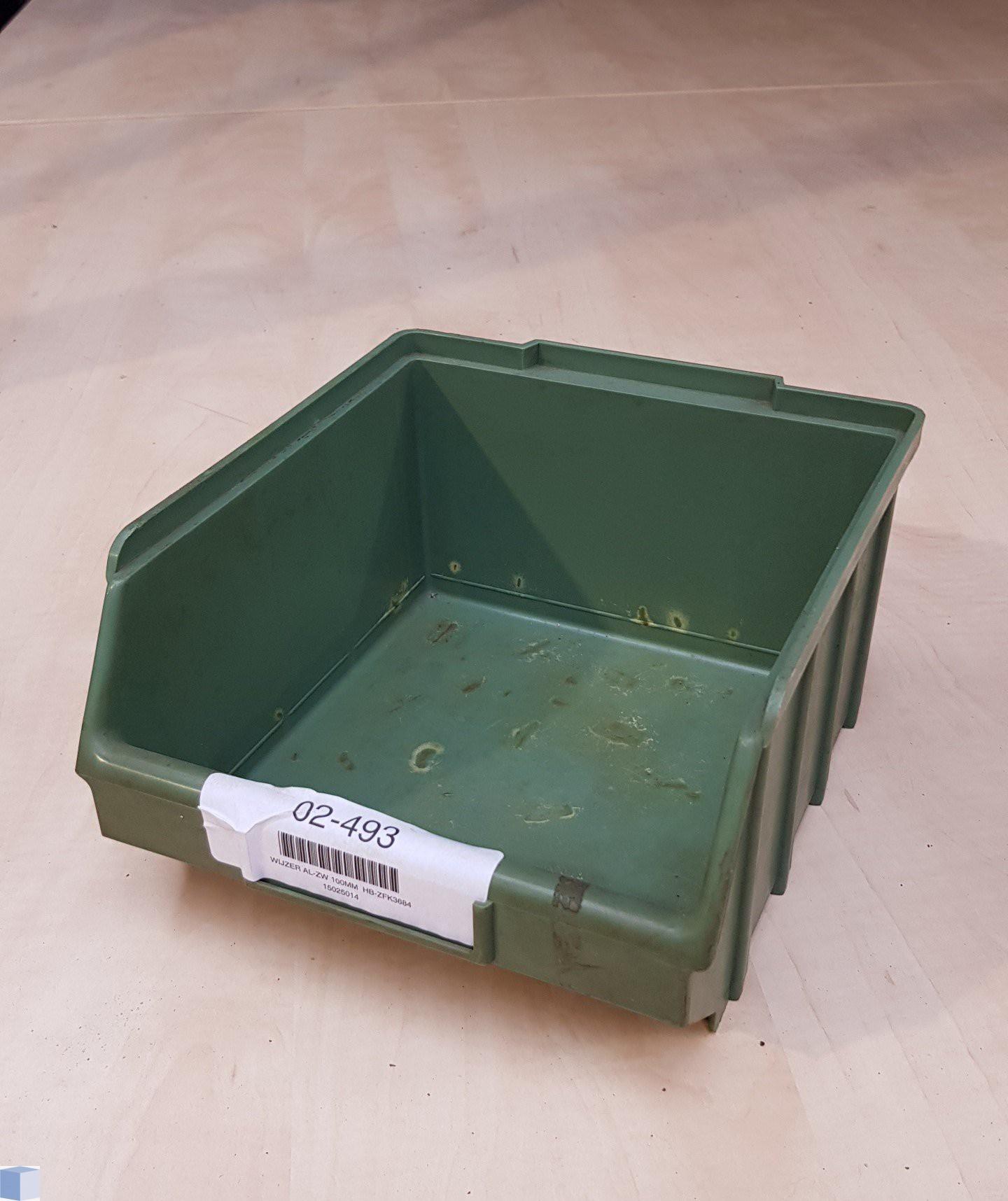 Kunststof stapelbak 230x217x130mm. groen, stapelbaar