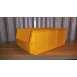 Kunststof magazijnbak 500x300x200mm. geel
