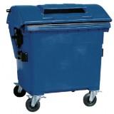 Kunststof container 1100 liter met papiergleuf