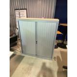 Roldeurkast 136x120cm. Aluminium