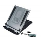 Laptop-standaard met documenthouder en USB-hub