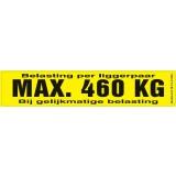 Draagvermogen etiket 460kg. per 10 stuks