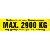 Draagvermogen etiket 2900kg. per 10 stuks