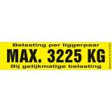 Draagvermogen etiket 3225kg. per 10 stuks