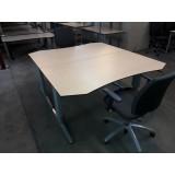 Slinger verstelbare bureautafel 160x80/90cm.