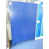 Garderobekast 3-deurs blauw