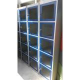 Lockers 1-koloms, 5-deurs 45cm. breed