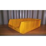 Kunststof magazijnbak 500x300x145mm. geel