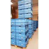 Kunststof transportbak 600x400x400mm. blauw, stapelbaar