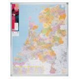 Postcodekaart, Nederland, 129x101CM