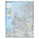 Wegenkaart, Nederland, 130x101cm
