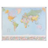 Wereldkaart, staatkundig, 98x142cm