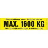 Draagvermogen etiket 1600kg. per 10 stuks
