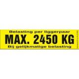 Draagvermogen etiket 2450kg. per 10 stuks