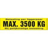 Draagvermogen etiket 3500kg. per 10 stuks