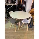 Ronde vergadertafel met 4 stoelen